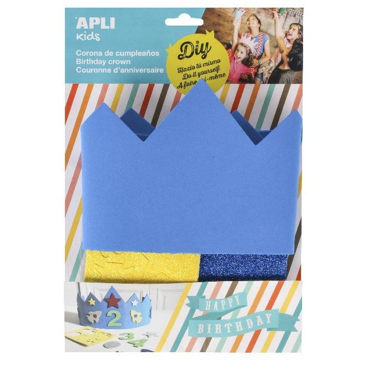 Apli: B.Eva Foam Birthday Crown-Blue 1 pc