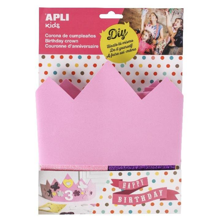 Apli: B.Eva Foam Birthday Crown-Pink 1 pc