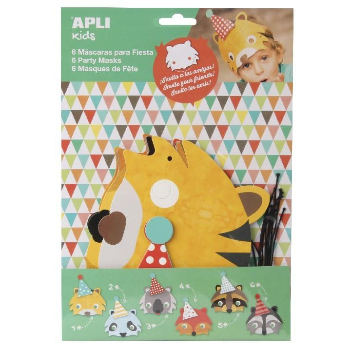 Apli: B.Carton Masks/Inviation Birthday 6U.