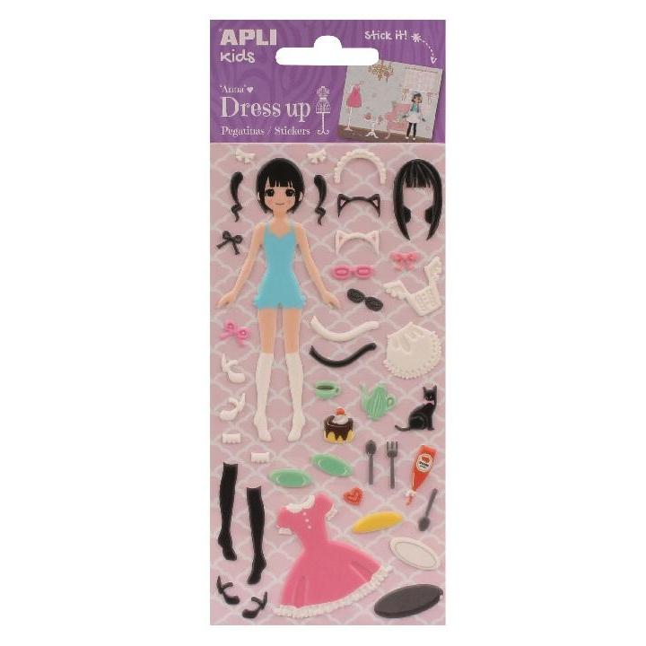 Apli: B.Dress Up Stick W/Scenario Anna 1sh