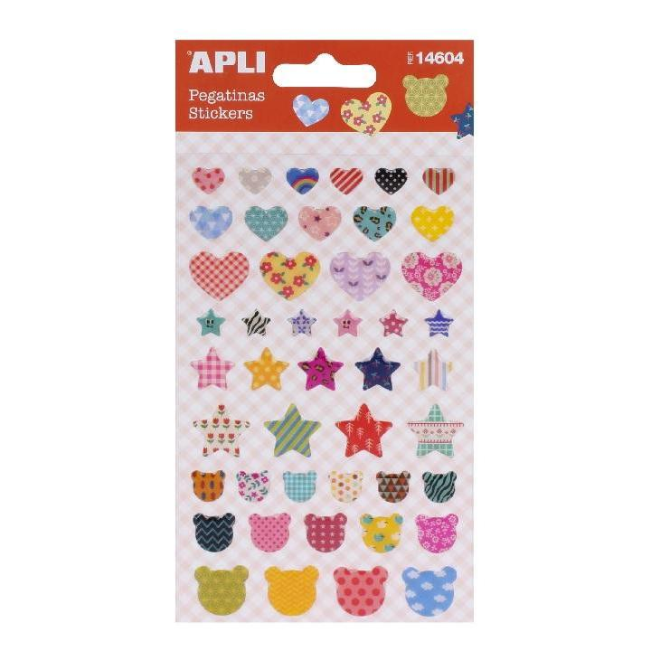 Apli: B.Stickers Heart-Star-Bear 1sh