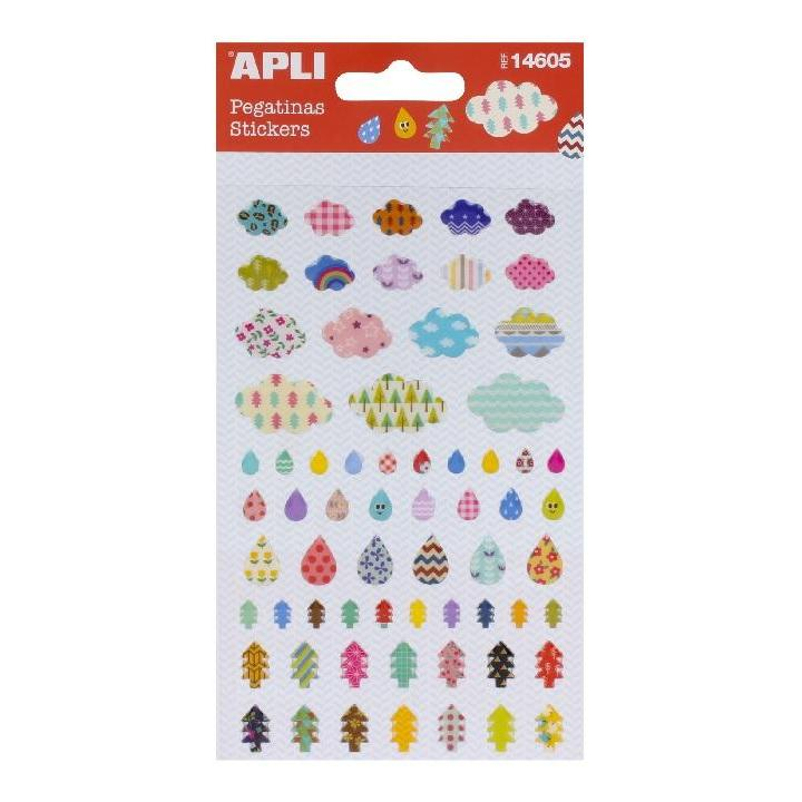 Apli: B.Stickers Cloud-Tear-Tree 1sh