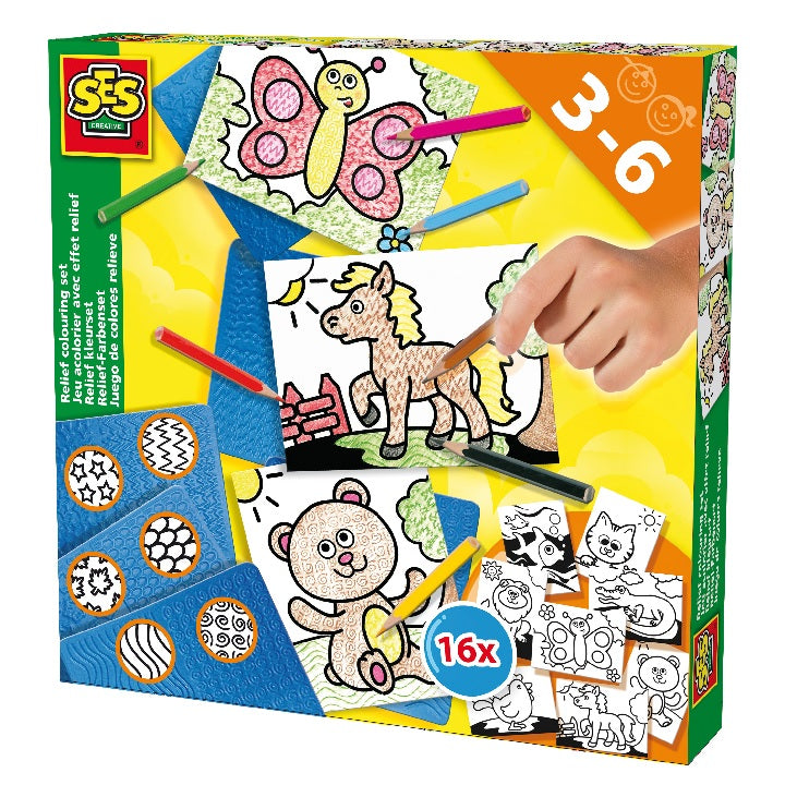 SES: Relief colouring set