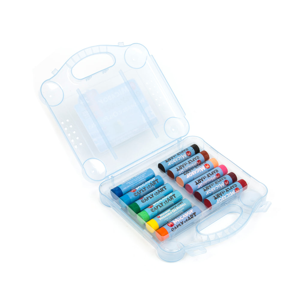 Micador: Washable Oil Pastels, Case 12  early stART