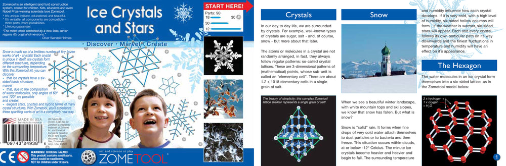 Zometool: Ice Crystals and Stars