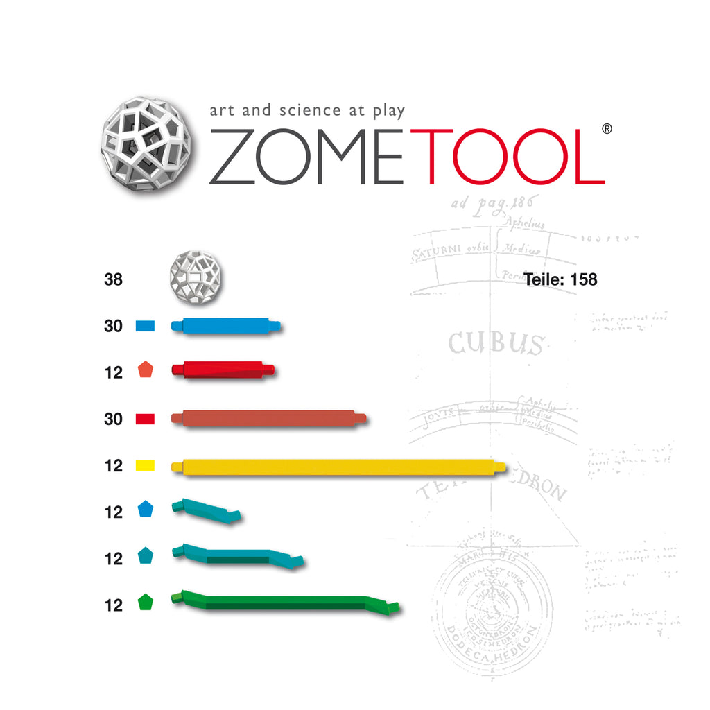 Zometool: Keplers Kosmos Project Kit conts 158parts