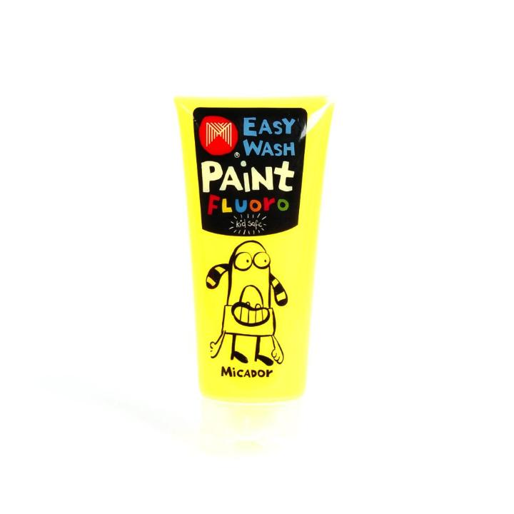 Micador: Easy Wash Fluoro Paint - Yellow, 120ml Micador