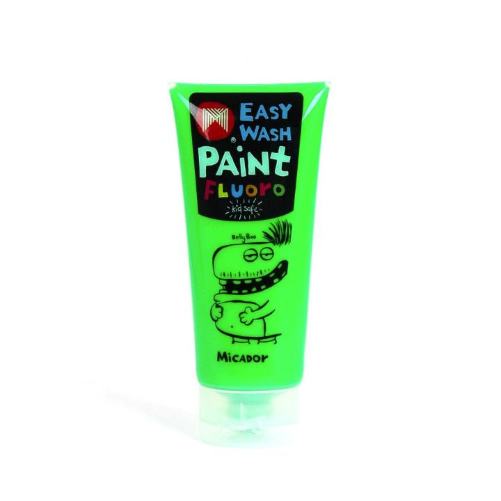 Micador: Easy Wash Fluoro Paint - Green, 120ml Micador