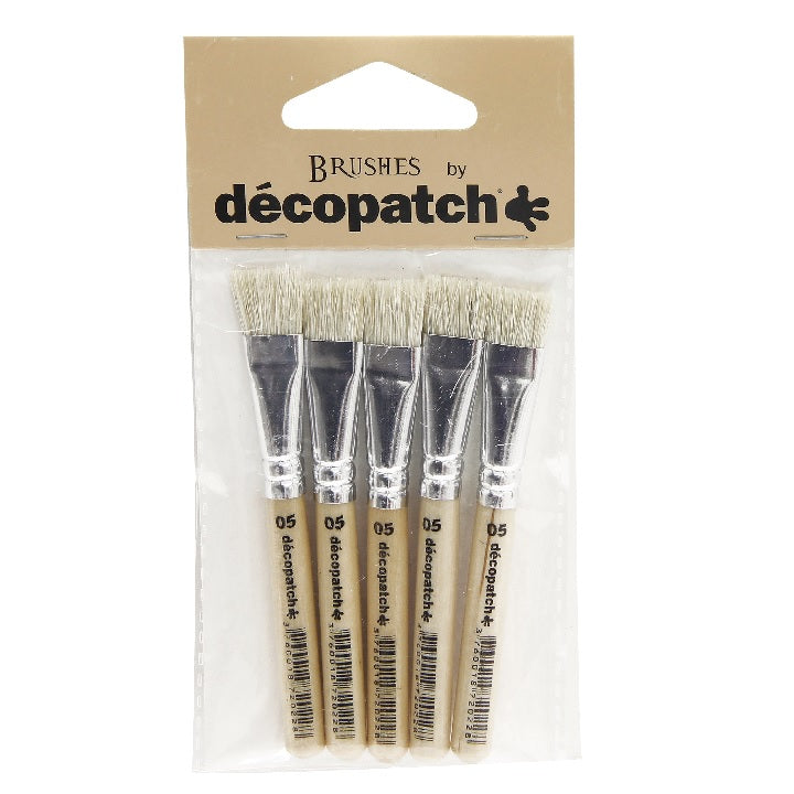 Decopatch: Pack of 5 little silk brushes