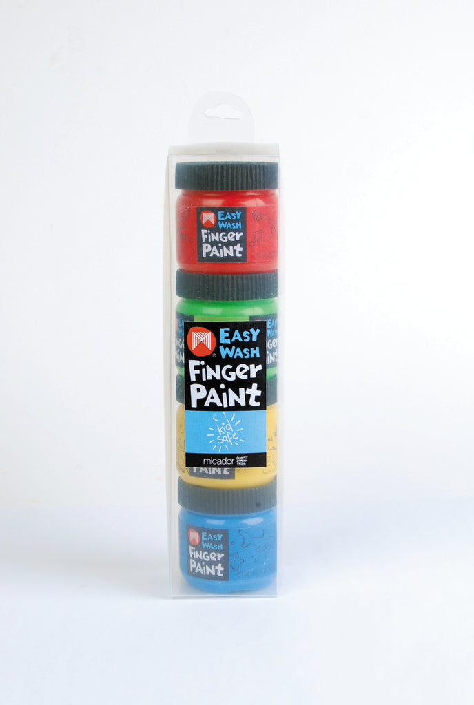Micador: Easy Wash Finger Paint, Pack 4  Micador