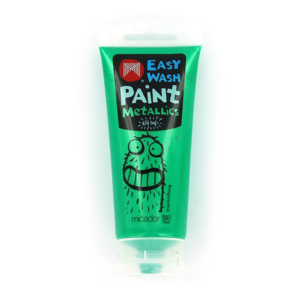Micador: Easy Wash Paint - Metallic Green, 120ml Micador