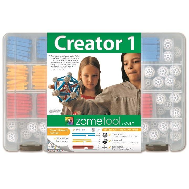 Zometool: Creator1 System Kit contains 246 parts