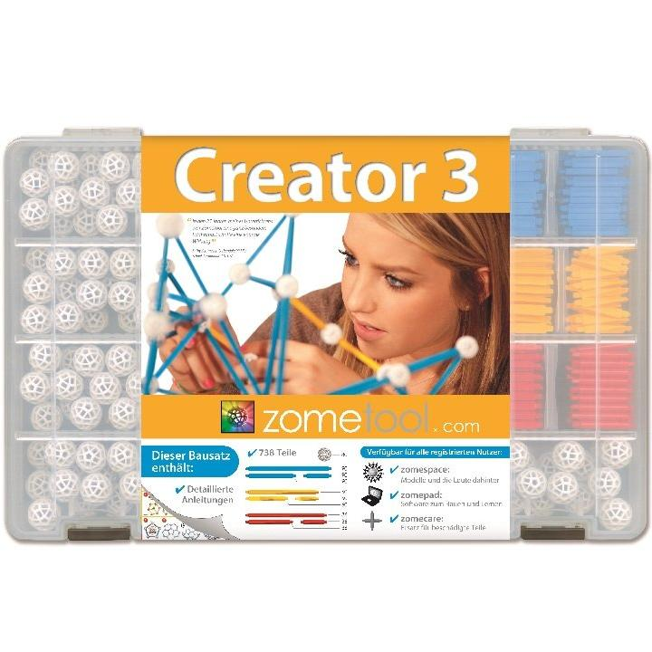Zometool: Creator3 System Kit contains 738 parts