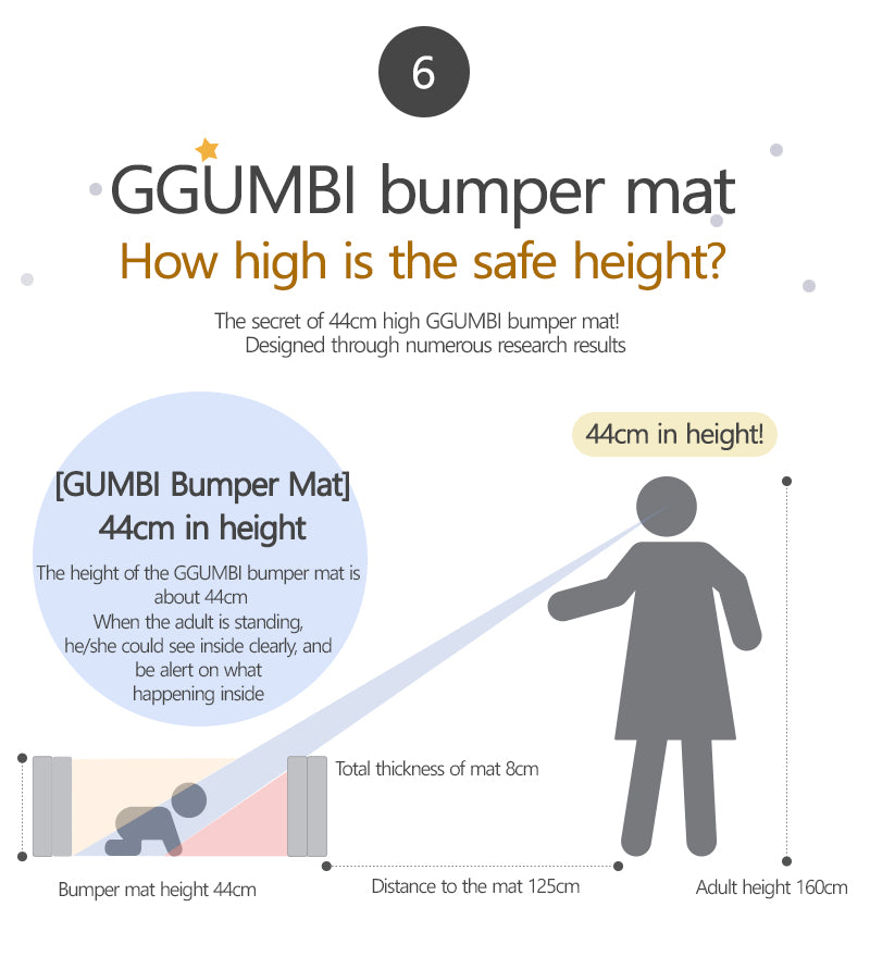 Ggumbi Bumber Mat (Yellow Big Star)