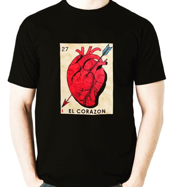 Mexican Loteria Theme Shirt: EL CORAZON