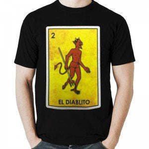 Mexican Loteria and Halloween Theme Shirt: El DIABLITO