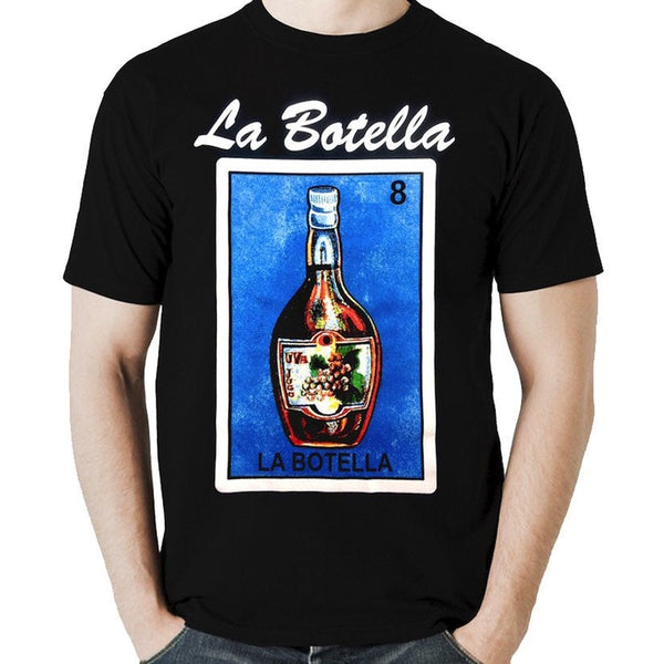 Mexican Loteria Theme Shirt: LA BOTELLA
