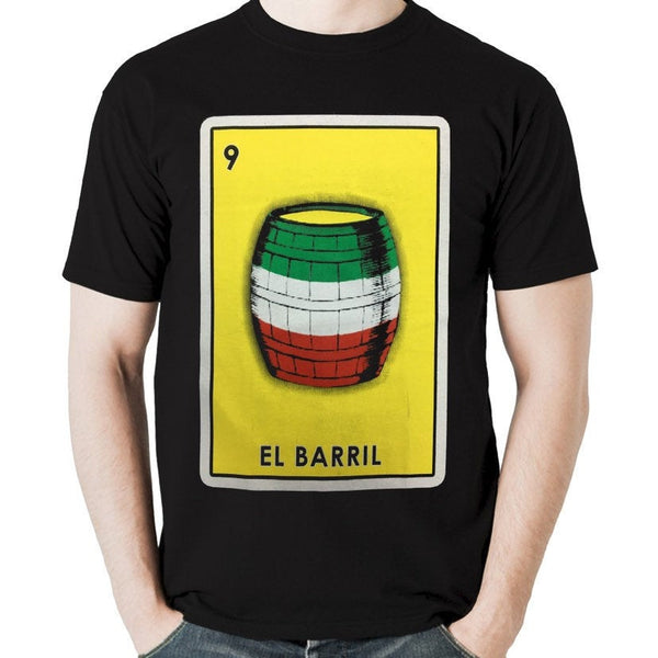 Mexican Loteria Theme Shirt: EL BARRIL