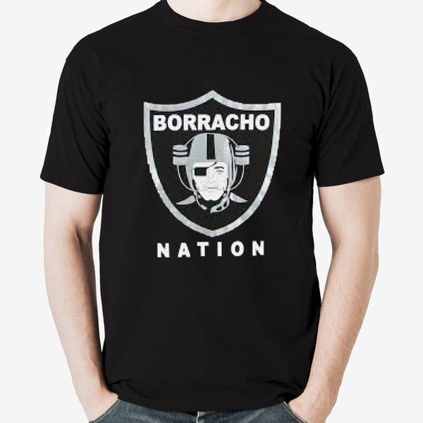 Borracho Nation - Raiders Parody Men's Shirt