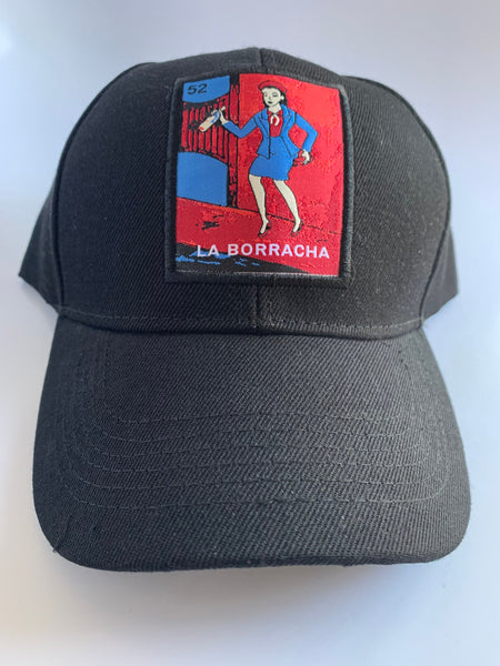 Mexican Loteria Caps - LA BORRACHA