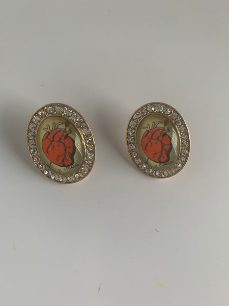 Mexican Loteria Corazon Earrings