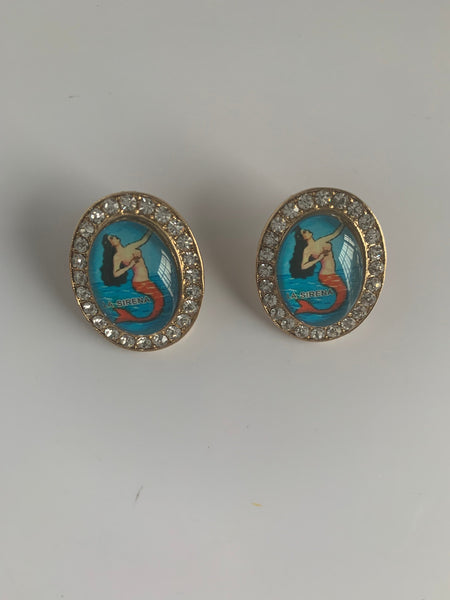 Mexican Loteria Mermaid Sirena  Earrings