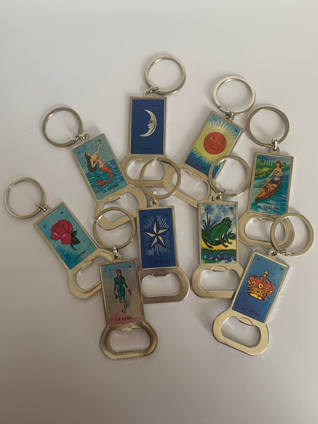 Mexican Loteria Bottle Opener/Key Chain- VARIOUS DESIGNS