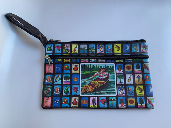 Cinco de Mayo Mothers Day Loteria Makeup Bag Clutch Approx. Dimensions 11 W x 7 H