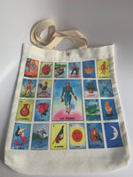 Mexican Loteria Dama Canvas Bag