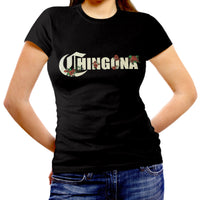 Women's Fitted Cut Shirt: CHINGONA