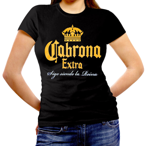 Women's Fitted Cut Shirt: CABRONA EXTRA