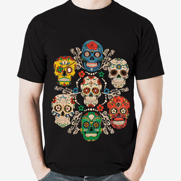 Multiple Sugar Skulls Shirt