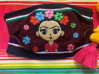 Frida Zarape Embroidered Mexican Handmade Facemask