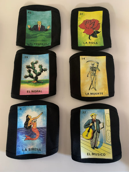 Loteria Mexican Handmade Facemask- 100 percent cotton 3 layers washable mask