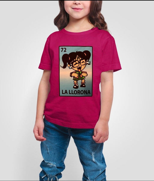 Mexican Kids Loteria Theme Shirt: LA LLORONA