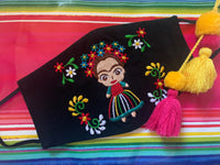 Frida Embroidered Mexican Handmade Facemask