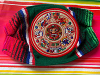 Aztec Calendar Colorful Handmade Facemask