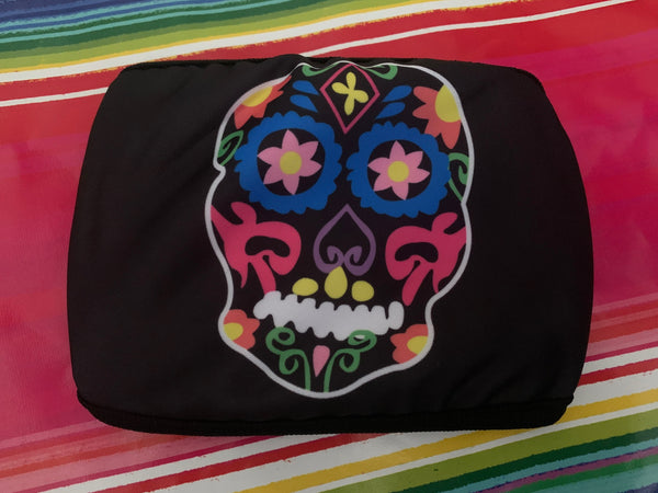 Sugar Skull Washable Facemask, La Calavera Halloween Skull Mask, Colorful High Quality Handmade Facemask