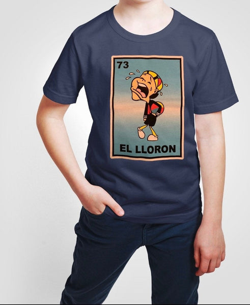 Mexican Kids Loteria Theme Shirt: EL LLORON