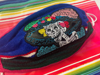 Catrina Skull Halloween Facemask Sarape High Quality Embroidered Mexican Handmade Facemask, Face Shield