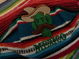 El Nopal Sarape High Quality Embroidered Mexican Handmade Facemask, Face Shield