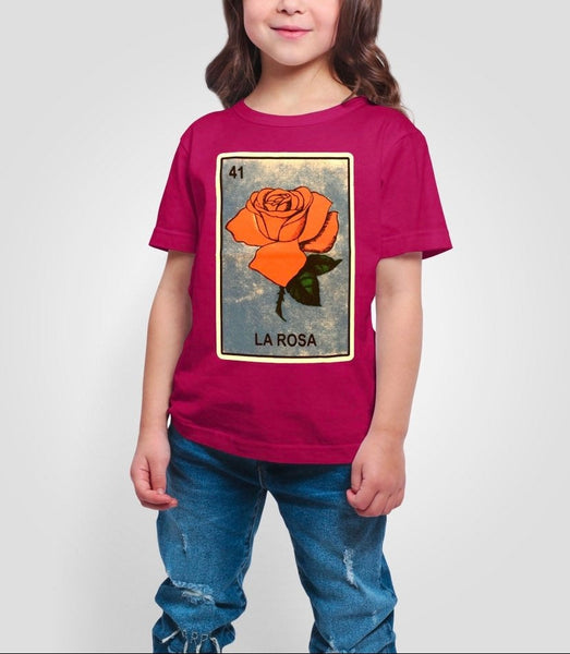 Mexican Kids Loteria Holiday Gift Shirt: LA ROSA