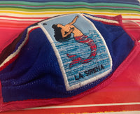 La Sirena Loteria Facemask, Washable Sarape High Quality Mexican Handmade Facemask, Face Shield