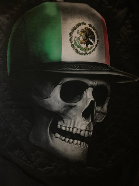 Mexican Skull Shirt Flag Cap