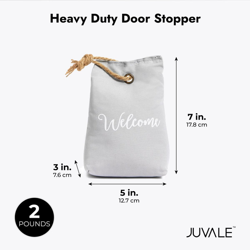Welcome Heavy Duty 2 Lb Door Stopper Weight Bag in Grey, (5 x 5 x 3 in)