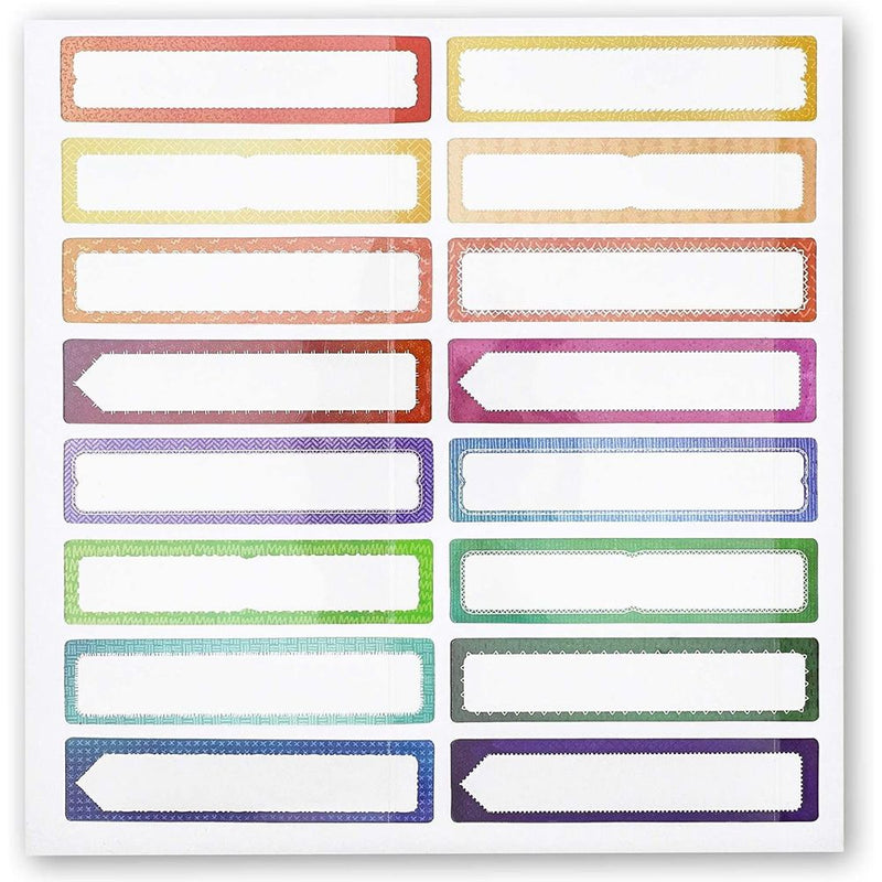 Name Date Jar Label Stickers for Kids Daycare, Baby Bottles (2.5 x 0.5 In, 208 Pack)