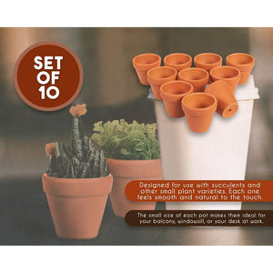 Juvale Mini Terracotta Pots 2 Inch (Set of 10)
