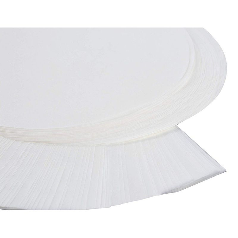 "Parchment Paper - 100 Sheets 9"" Precut Non Stick Parchment Paper Sheets for Baking Cakes, Cooking, Dutch Oven, Air Fryer Liners – Round with Easy Lift Tab, White"