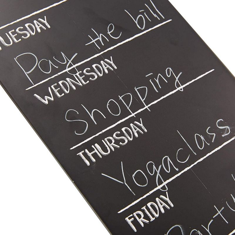 Juvale 2-Pack Tin Chalkboard Weekly Wall Planner for Menu and to-Do List, 16 x 6 inches