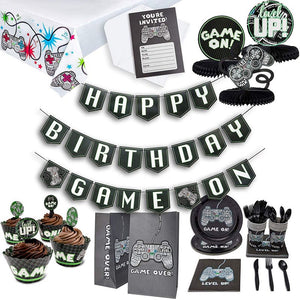 Juvale Video Game Birthday Party Pack for 12 Gamer Decorations and Supplies (125 Pieces)